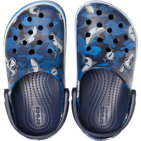Crocs Crocband Shark Prescool Clogs Niños, navy